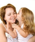 6246486 happiness and love woman and little girl showing affection